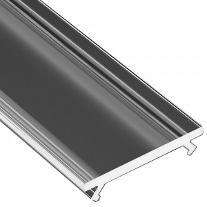 Aluminium profile cover LUMINES WIDE PMMA, 2m, transparent 94%