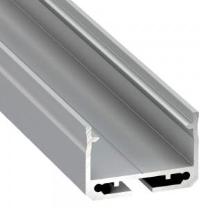 Alumiiniprofiili LUMINES SILEDA 2m hopea