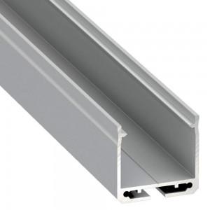 Alumiiniprofiili LUMINES DILEDA 2m hopea