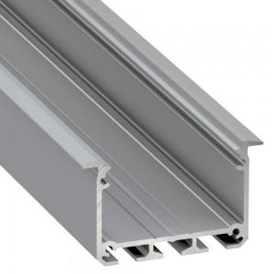 Alumiiniumprofiil Alumiiniumprofiil LUMINES INSO 2m hõbedane
