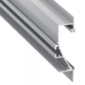 Alumiiniprofiili Alumiiniprofiili LUMINES Tiano hopea harmaa