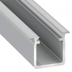 Alumiiniprofiili Alumiiniprofiili LUMINES Type G 2m hopea
