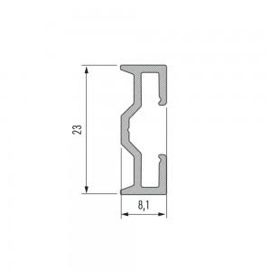 Aluminium profile LUMINES Sparo 2m silvery