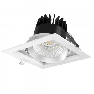 LED downlight PROLUMEN CL113A-6 black square 25W 2700lm CRI80 36° IP20 3000K warm white