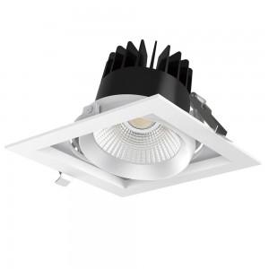 LED Allvalgusti LED Allvalgusti PROLUMEN CL113A-6 must ruut 25W 2700lm CRI80 36° IP20 3000K soe valge