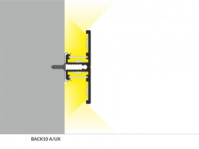 Alumiiniumprofiil BACK10 A/UX 2m hõbedane
