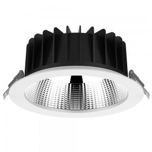 LED-alasvalo PROLUMEN DL178-4 UGR19 valkoinen 230V 10W 980lm CRI80 60° IP54 3000K lämmin valkoinen