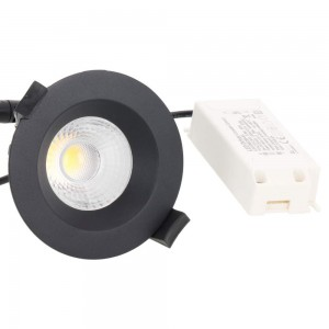 LED downlight PROLUMEN DL103A black round 230V 5W 480lm CRI80 36° IP65 3000K warm white