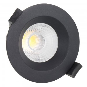 LED downlight PROLUMEN DL103B 3 TRIAC black round 230V 13W 1130lm CRI80 36° IP65 3000K warm white