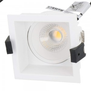 LED downlight PROLUMEN CL79C TRIAC white square 230V 10W 860lm CRI80 36° IP44 3000K warm white