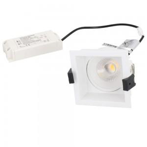 Локальный LED светильник PROLUMEN CL79C TRIAC белый квадрат 230V 10W 860lm CRI80 36° IP44 3000K теплый белый