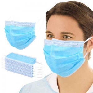 Mask Medical disposable protective mask EN14683 50PCS.