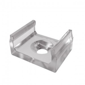Aluminium profile LUMINES Type A bracket, low transparent