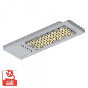 LED street light PROLUMEN Slim silvery 230V 120W 14400lm CRI80 70x140° IP66 4000K pure white