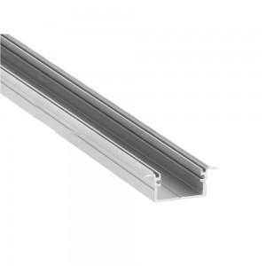 Alumiiniumprofiil LUZ NEGRA Berlin XL 2m hõbedane