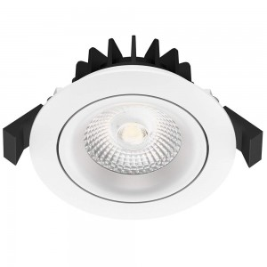 LED downlight PROLUMEN CL117B 3 TRIAC white round 230V 8W 700lm CRI80 45° IP54 3000K warm white