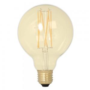LED lamp G95 Vintage Gold TRIAC 354-51 230V 3.7W 240lm CRI90 E27 1800K soe valge