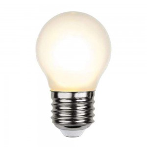 LED bulb G45 Frosted Filament TRIAC 350-24 230V 4W 350lm CRI80 E27 360° IP44 2700K warm white