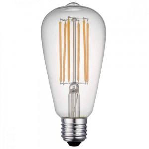 LED lamp FST64 230V 7W 800lm CRI80 E27 360° 2700K soe valge