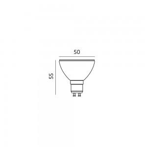 LED bulb PREMIUM SAMSUNG 230V 5W 430lm CRI80 GU10 100° 3000K warm white
