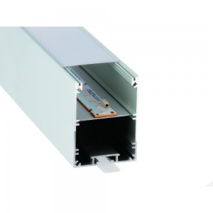 Alumiiniumprofiil LUZ NEGRA MUNICH 2m hõbedane