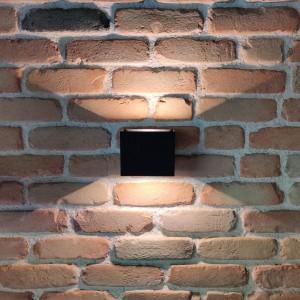 LED wall light PROLUMEN WL20 black 230V 10W 800lm CRI80 110° IP65 3000K warm white