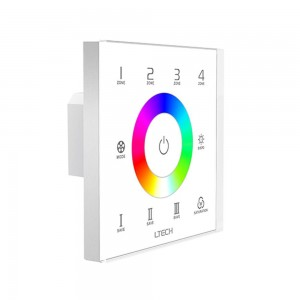 Control panel LTECH EX7S RGB Touch Panel (4 zones) 230V IP20