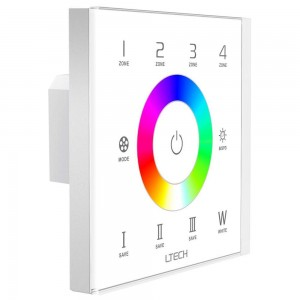 Control panel LTECH EX8S RGBW Touch Panel (4 zones) 230V IP20