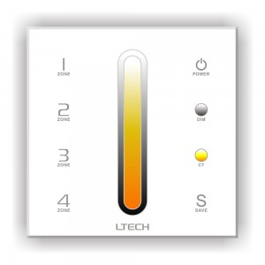 Control panel LTECH DX6 4 zone, 2.4GHz + DMX512 white 230V