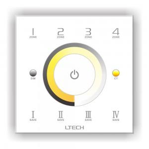Juhtimispaneel LTECH DX7 4 tsooni, valge korpus 2.4GHz + DMX512 230V