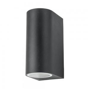 Facade luminaire PORTO/R two sockets black 230V GU10 IP44