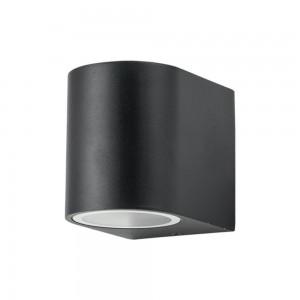 Facade luminaire PORTO/R single socket black 230V GU10 IP44