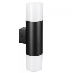 Facade luminaire KYOTO/W two sockets black 230V E27 IP44