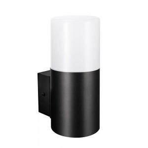Facade luminaire KYOTO/W single socket black 230V E27 IP44