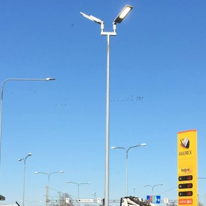 LED street light PROLUMEN Slim silvery 230V 90W 10800lm CRI80 70x140° IP66 4000K pure white