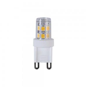 LED lamp 344-04 230V 2.3W 230lm CRI80 G9 2700K soe valge