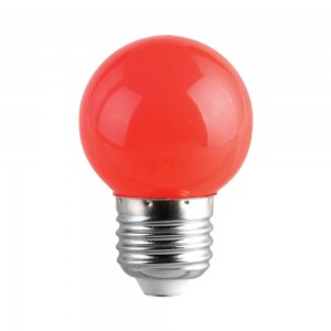 LED bulb G45 230V 1W CRI80 E27 320° red