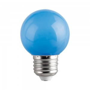 LED bulb G45 230V 1W CRI80 E27 320° blue