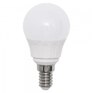 LED lamp AIGOSTAR A5 G45B 230V 3W 225lm CRI80 E14 280° IP20 3000K soe valge