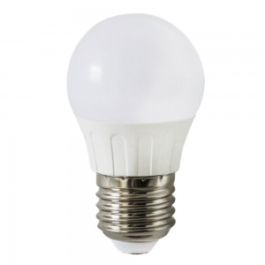 LED bulb AIGOSTAR A5 G45B 230V 3W 225lm CRI80 E27 280° IP20 3000K warm white