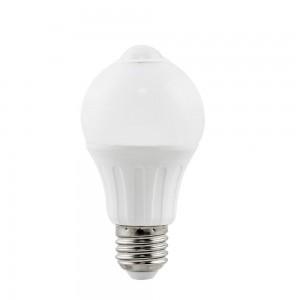 LED lamp AIGOSTAR A5S A60B Liikumisanduriga 230V 6W 450lm CRI80 E27 280° IP20 3000K soe valge