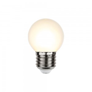LED bulb G45 230V 1W 15lm E27 2700K warm white