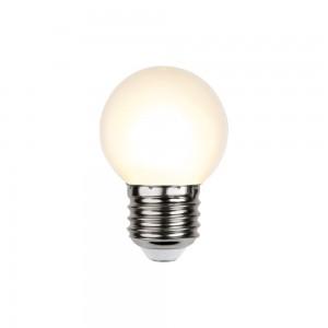 LED lamp G45 230V 1W 15lm E27 2700K soe valge