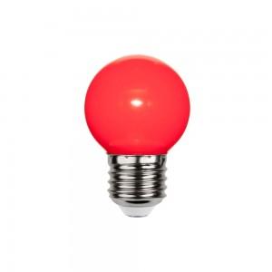 LED lamp G45 230V 1W 30lm E27 red punane