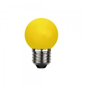 LED bulb G45 230V 1W 30lm E27 yellow