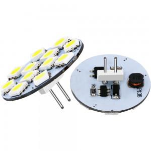 LED lamp REVAL BULB 10/5050SMD back pin 10-30V 2.5W 180lm CRI80 G4 180° 3000K soe valge