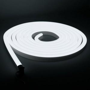 LED Riba Neon Flex REVAL BULB 4x10mm 5m rull 24V 9,6W CRI80 IP67 3000K soe valge