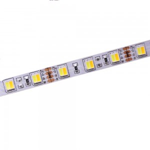 LED Riba 5050 60LED 1m 12V 9.6W CRI80 120° IP20 3000K/6500K WW/CW
