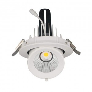 LED downlight PROLUMEN Gimbal COB D114 TRIAC white 230V 12W 1100lm CRI90 38° IP20 3000K warm white