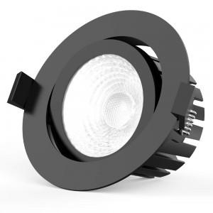 LED downlight PROLUMEN CL102 2.5 TRIAC black round 230V 13W 1010lm CRI90 36° IP65 3000K warm white